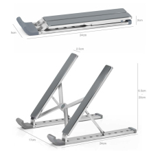 Portable Laptop Stand Foldable Base Notebook Holder For Macbook Pro Air Imac Aluminum PC Computer Cooling Bracket Stand Support free shipping samdi for apple imac bracket monitor stand elevated computer stand one machine imacbook wooden frame