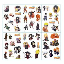6pcs/lot Naruto Anime Stickers Pegatinas Book Sticker Pack Classic Toys Skateboard Doodle Sticker Toys