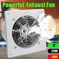 80W 8 Pollici 220v Ventilatore Estrattore Ventole di Scarico di Alta Aumento di Velocità Ventola di Scarico Wc Cucina Bagno Appeso A Parete