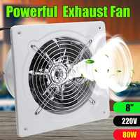80W 8 Zoll 220v Ventilator Extractor Auspuff Fans High Speed Boost Auspuff Fan Wc Küche Bad Hängen Wand