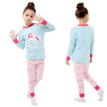 100 Cotton Boys and Girls Long Sleeve Pajamas Sets Children's Sleepwear Kids Christmas Pijamas Infantil Homewear Nightwear - PA16, 2T