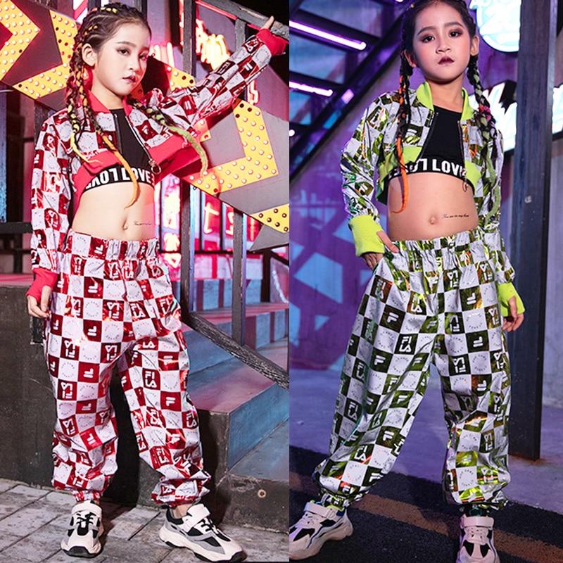 Children Hip Hop Dance Costumes Kids Cheerleading Clothing Street Dancing Outfit Girls Jazz Modern Stage Performance Wear DN4548