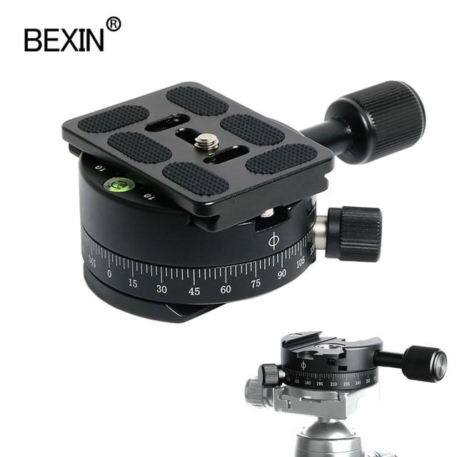 Câmera braçadeira panorâmica tiro braçadeira tripé monopé placa de liberação rápida montagem girar braçadeira para placa arca dslr câmera tripé