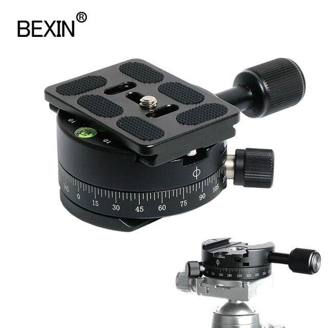 Camera Clamp Panoramisch Schieten Klem Statief Monopod Quick Release Plate Mount Draaien Klem Voor Arca Plaat Dslr Camera Statief