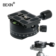 Camera clamp panoramic shooting clamp tripod monopod quick release plate mount rotate clamp for arca plate dslr camera tripod