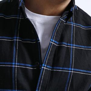 Image 2 - Simwood Cổ Áo Sơ Mi Nam 2020 New 100% Nguyên Chất Cotton Tay Dài Kẻ Sọc Áo Sơ Mi Nam Slim Fit Plus Kích Thước Camisa Masculina 190008
