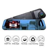 TOSPRA 4 pulgadas coche DVR Cámara espejo retrovisor Dash Cam HD 1080P Car Driving Recorder 120 grados gran angular Video Recorder