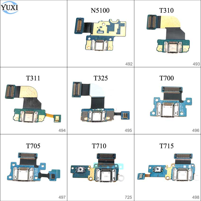 YuXi USB Charger Board Charging Port Connector Dock Flex Cable For Samsung Galaxy Note 8.0 N5100 / T310 T311 T325 T700 T705 T715
