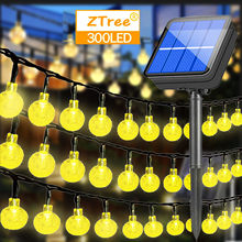 Outdoor Solar String Lights Globe Crystal Balls Waterproof LED Fairy Lights 8 Mode for Garden Yard Home Party Wedding Decoration