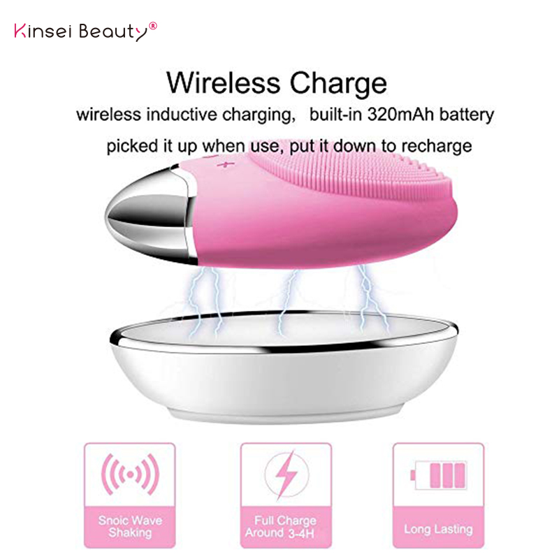 Image 3 - Face Cleansing Brush Electric Facial Cleanser Facial Cleansing Brush Facial Cleansing Waterproof Anion Imported Wireless Mini2-in Powered Facial Cleansing Devices from Home Appliances