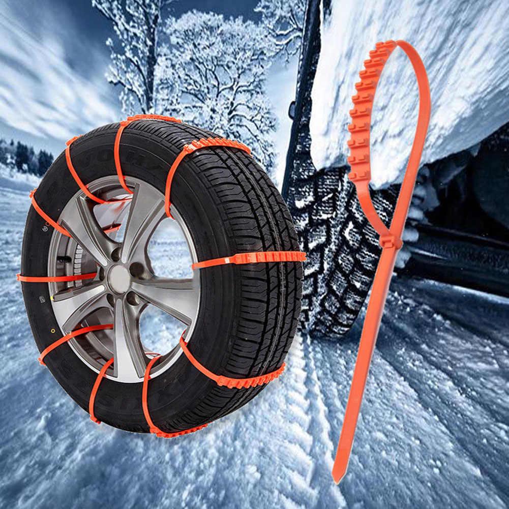 Espeedy cadenas antideslizantes,10pcs Cables de tracci/ón Llantas de protecci/ón de invierno Llantas de ruedas