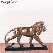 YuryFvna Creative Resin Male Lion Statue Decoration Figurines Ornament Sculpture  Crafts Home Jewelry Ornament  Gift