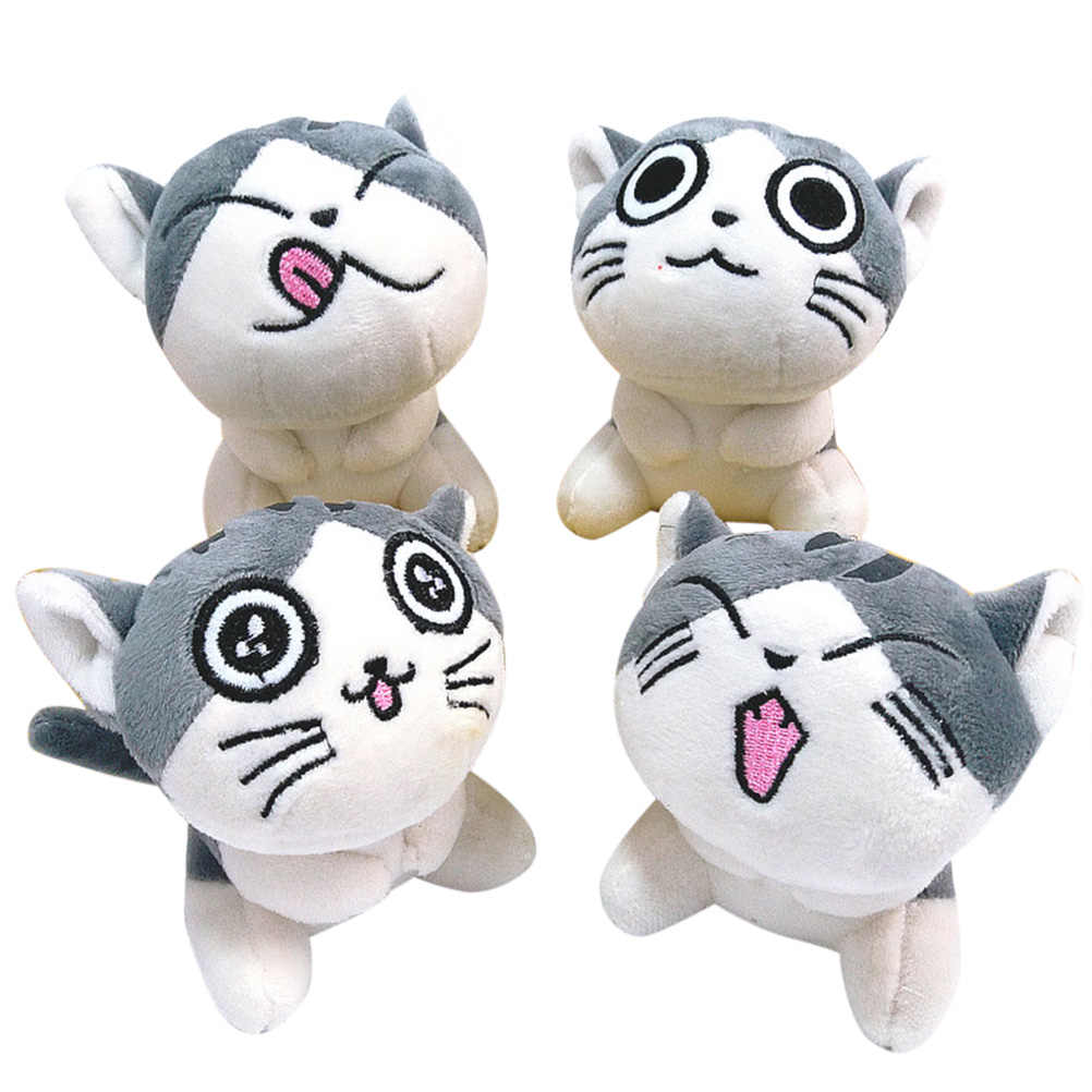 Random Delivery Cartoon Cute Cat Plush Stuffed Doll Cat Toys 10CM Birthday Gift Children Toys Kids Toys Girls Gifts Presents #20