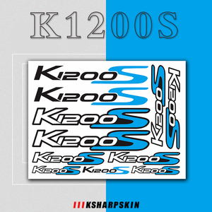 Image 1 - For BMW K1200S k1200 s k 1200s k 1200 s k1200s   Motorcycle body Decoration Stickers Front Rear Fairing Decal Reflective Sticker