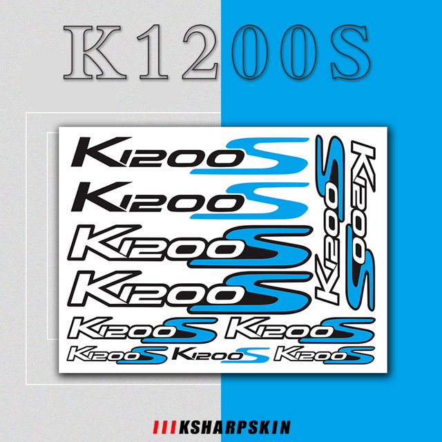 For BMW K1200S k1200 s k 1200s k 1200 s k1200s   Motorcycle body Decoration Stickers Front Rear Fairing Decal Reflective Sticker