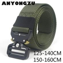 ANYONGZU 125CM 140CM 150CM 160CM Men Outdoor Belt Eye Snake Buckle Imitation Nyl