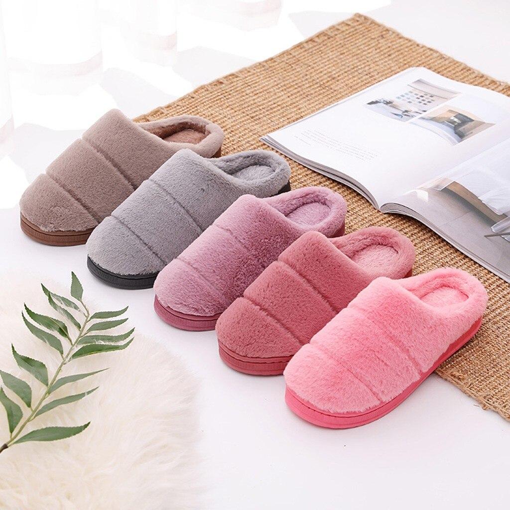 Hbb2e13ab7ad14cb9aa58501f7f8de060j Pantufa masculina e feminina, chinelo de pelo e listrado para casa, inverno 2020 sapatos pantufa