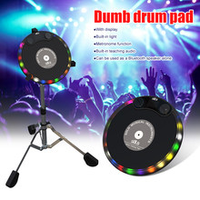 10Inch Percussie Elektronische Luminescentie Domme Drum Trainer Praktijk Training Drum Pad Bluetooth Audio Siliconen Domme Drum Stand(China)