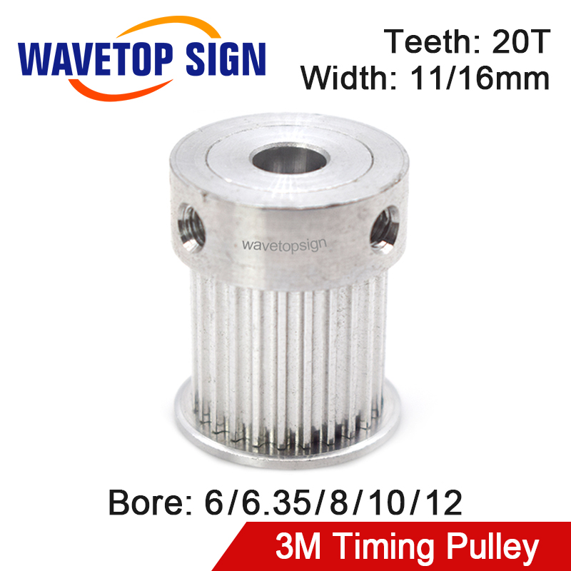 Timing Pulley Synchronous Wheel HTD 3M Gear Pulley Bore 6-12mm Width 11/16mm For DIY CO2 Laser Engraving And Cutting Machine