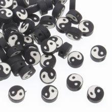 CHONGAI 100 шт. Tai Ji полимерные бусины из глины DIY ожерелье ювелирные аксессуары