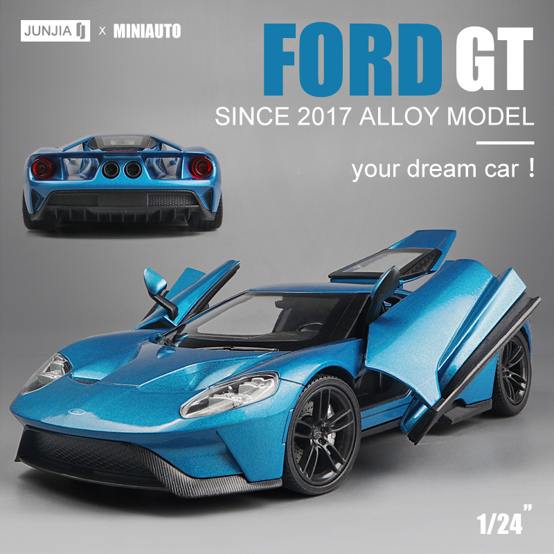 1:24 Scale Ford GT Sports Car Children Toy Simulation Inertia Metal Racing Collection Decoration Diecast Model Toy For Boy Gift