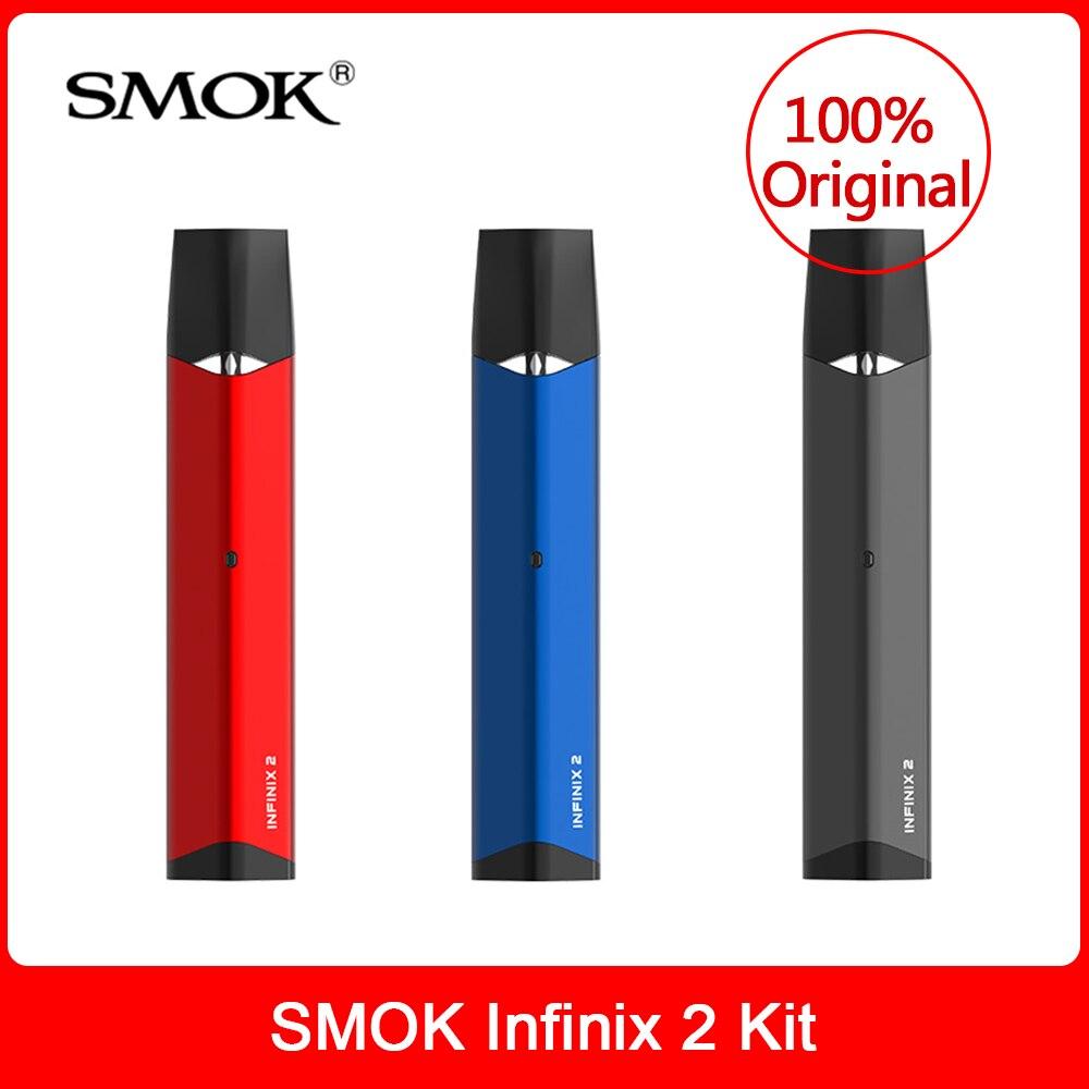 Original Smok Infinix 2 Kit Caneta Vape 450mAh Construir-na Bateria 2ml pod Capacidade Vaporizador VS Infinix novo Nord Starter Kit Ecig