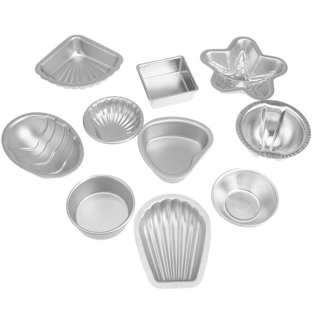 2Pcs/set Aluminium Alloy 3D Bath Bomb Molds DIY Tool Salt Ball Homemade Crafting Mould Semicircle Sphere Shell Bath Accessories 1