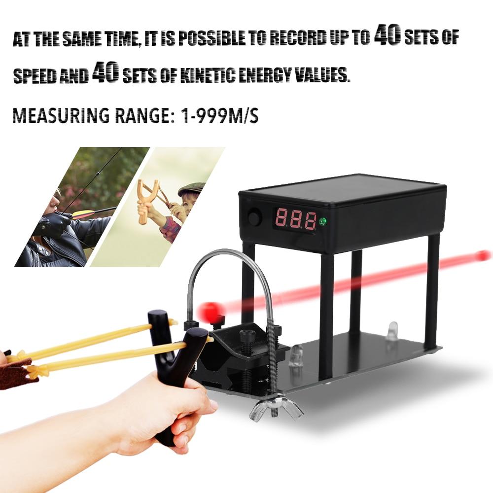 Bala tiro Chronograph Speed Tester Multifuncional Cronógrafo para Tiro Medidor de Velocidade da Bola Velocidade de Medição de Energia