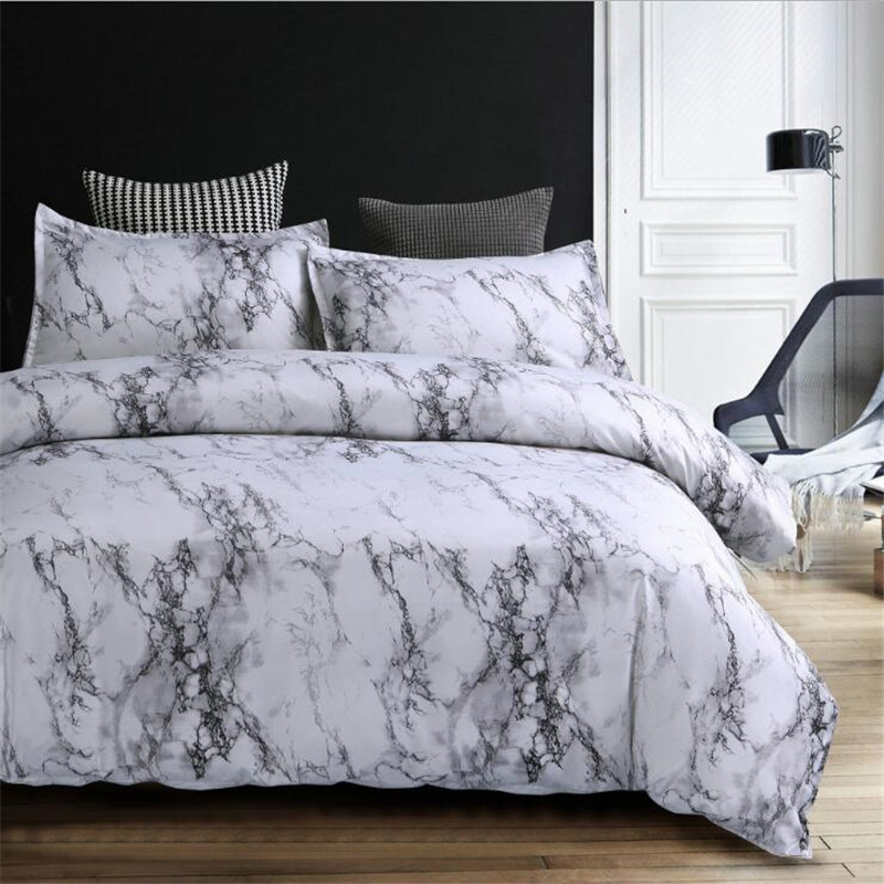 Wish Amazon Hot Selling Quilt Cover Pillow Case Textile Bedding Four Sets Marble Streak Of A Generation Of Fat