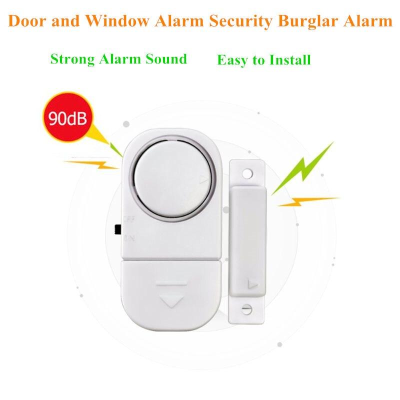 Домашняя система охранной сигнализации автономные магнитные датчики независимая беспроводная домашняя дверь и окно сигнализация