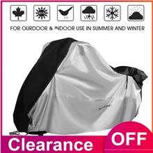 Cubierta para Moto 210D, protección UV para la lluvia y la nieve, Protector para el maletero, soporte Universal para motocicletas D4