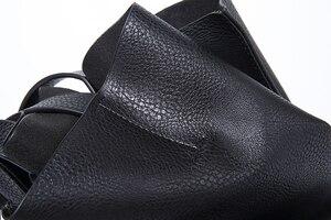 Image 3 - デザイナーの女性のハンドバッグ大容量黒ショッピングバッグ品質puレザー女性のトートバッグカジュアル女性のショルダーバッグボルサ