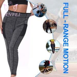 Image 5 - LANFEI נשים Neoprene סאונה הרזיה מכנסיים חם תרמו זיעה גוף Shaper קאפרי מותניים מאמן משקל אובדן חותלות גוזם תחתונים
