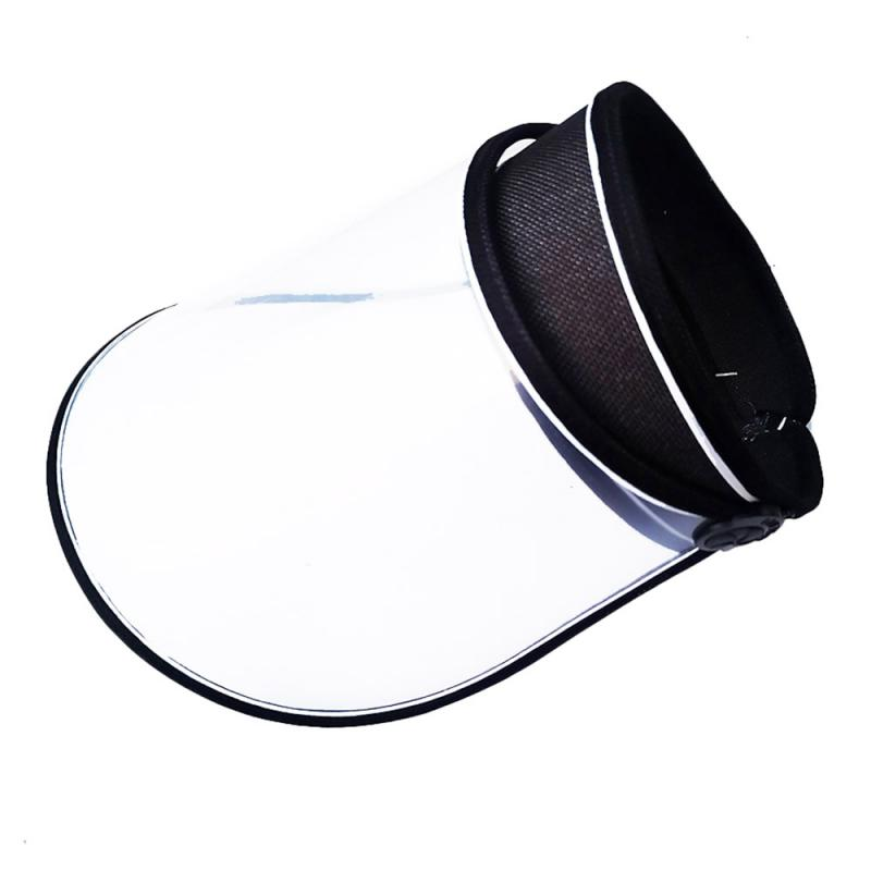 New Protectivel Cap face sheild plastic Saliva Hair Ring Men And Women HD protector facial transparente Hat Sun Visiere(China)