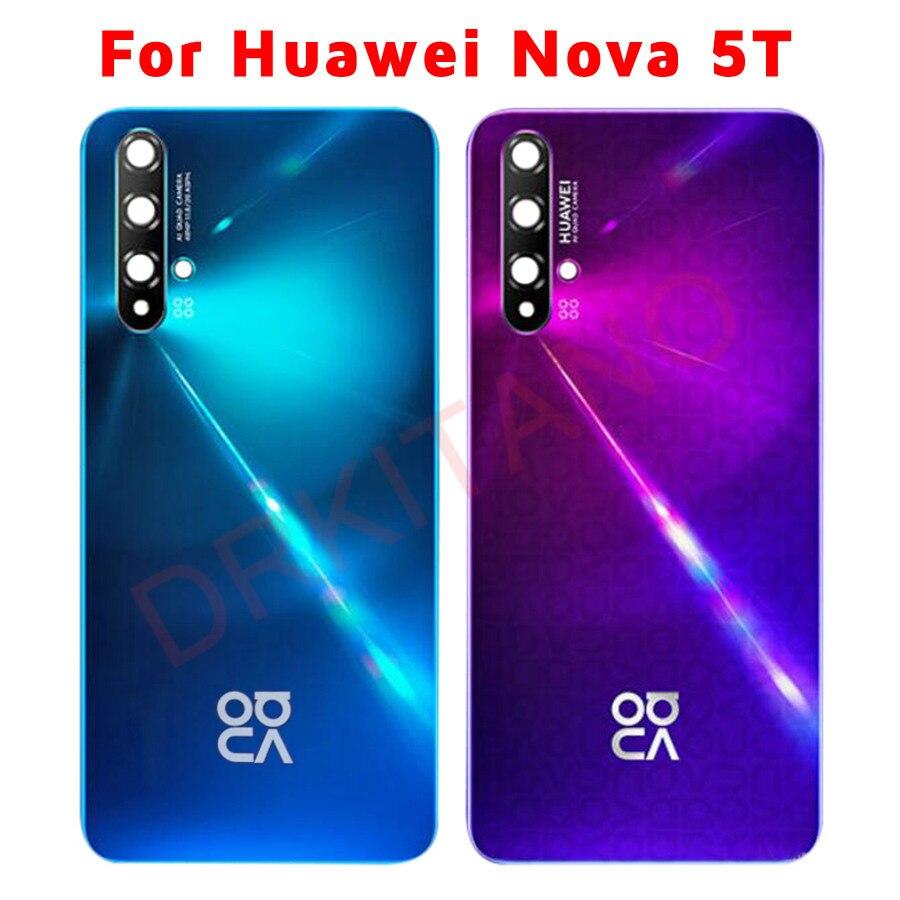 Оригинальная Задняя стеклянная панель для Huawei Nova 5T крышка батареи задняя крышка корпуса Дверь чехол Замена для Huawei Nova 5T Задняя крышка батар...