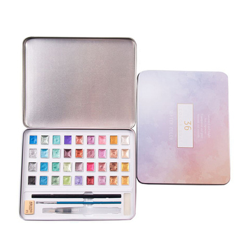 1 Set Metallic Watercolor Set 36 Colors Pearlescent Solid Watercolor Pigment Set Paint By Number Paint Refills TB Sale