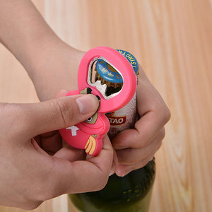 Cartoon Bottle Opener Soft Plastic Creative Beer Opener Multi-functional Magnetic Opener Fridge Sticker kichen accessories