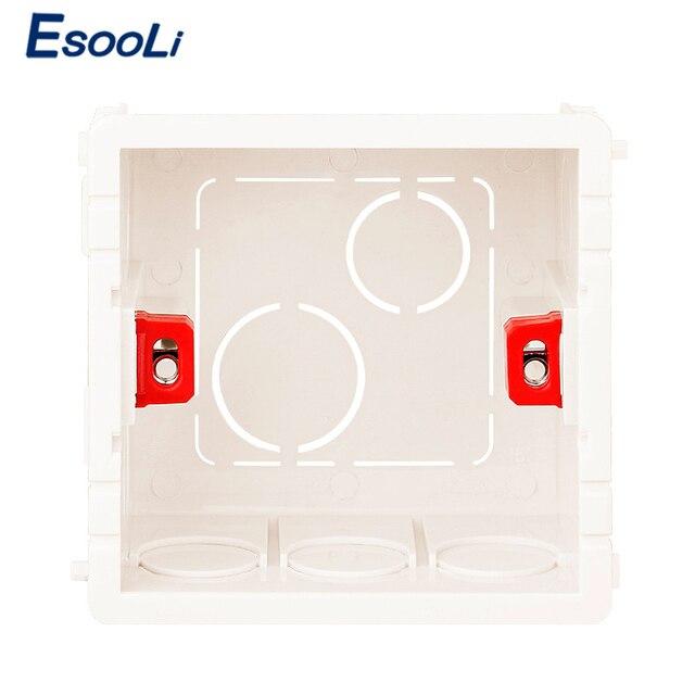 EsooLi boîte de montage réglable commutateur tactile   Cassette interne 86mm * 85mm * 50mm pour interrupteur tactile et prise 86