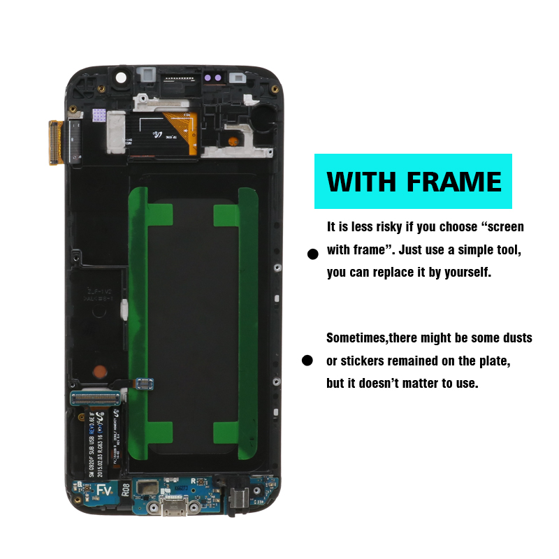Hbb2f9a0ace0e4da5919ae2b99da0d7e00 ORIGINAL 5.1'' Super AMOLED Replacement LCD S6 for SAMSUNG GALAXY S6 G920 SM-G920F G920F G920FD Touch Screen Digitizer Assembly