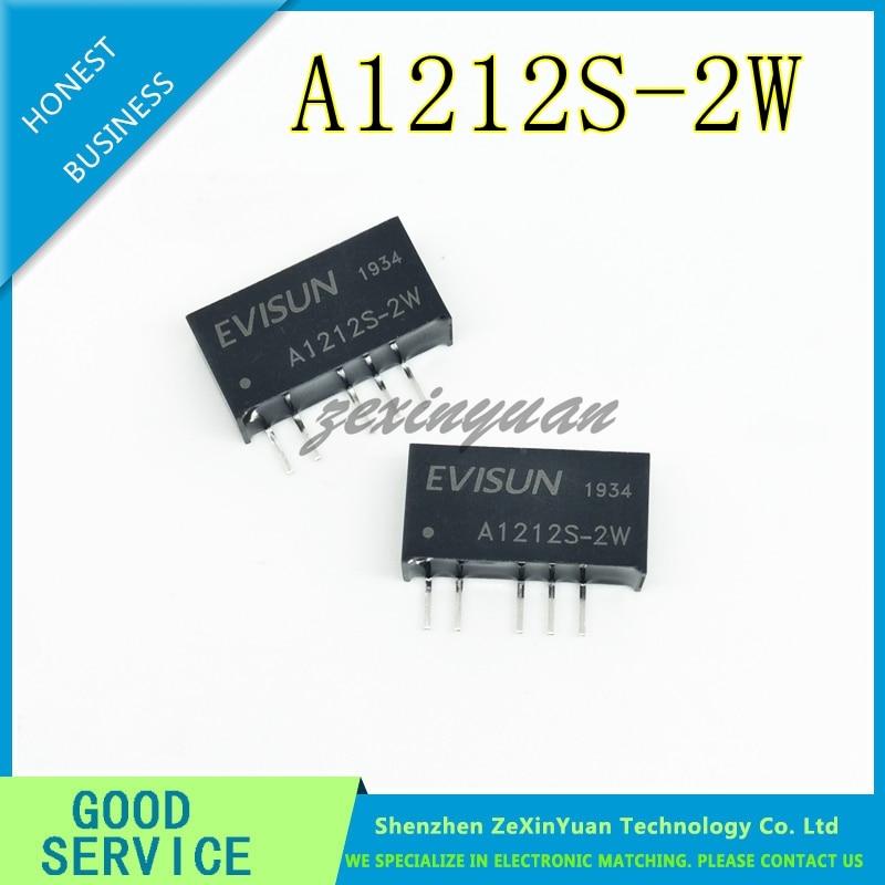 5PCS 10PCS 20PCS  A1212S-2W Power Module 12V To Positive And Negative 12V DC-DC Isolation Power Chip
