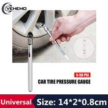 Универсальный мини автомобильный манометр 5-50 фунтов/кв. дюйм 1 шт. тест давления воздуха в шинах ручка для мотоциклов автомобилей грузовиков RV калибровка PSI кПа