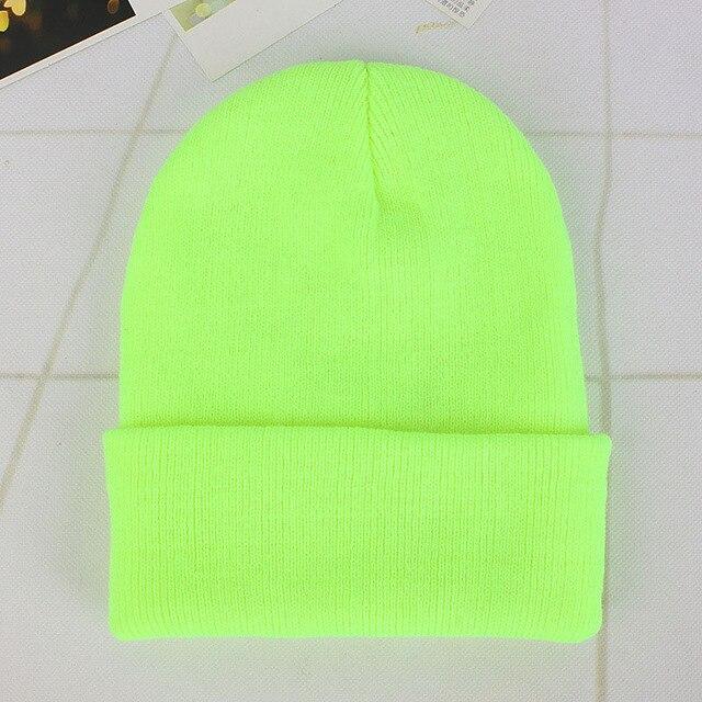 Solid Knitted Hats for Women Winter Soft Warm Knitted Cap Men Women Skullcap Hats Gorro Ski Caps Fashion Beanies for Women 2021 6
