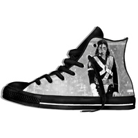 New Arrival Popular Anime and Roll Michael Jackson Men/Women 3D Print Sneakers Harajuku Style Plimsolls Casual Shoes