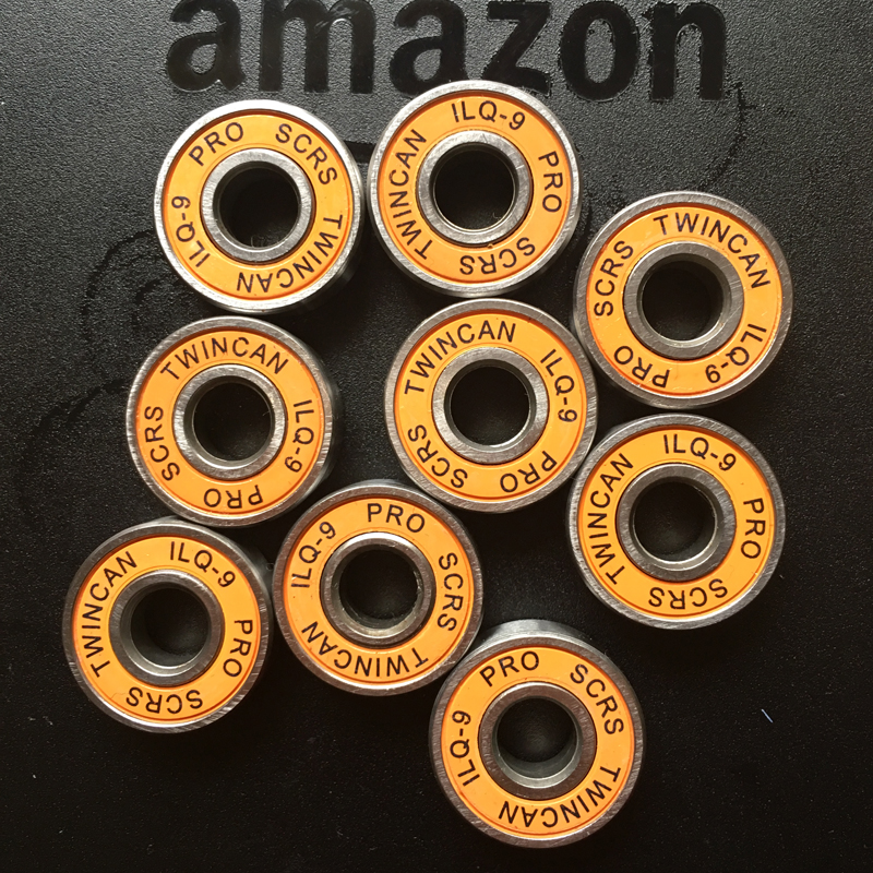 16pcs/lot SKATING TWINCAM ILQ-9 608zz Miniature Radial Ball Bearings For Skate Board Shoes Wheels Accessories -9 Random Color