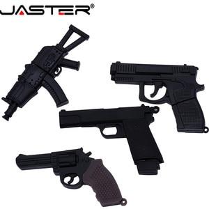 Image 1 - JASTER USB 2.0 serin makineli tabanca silah modeli Flash sürücü tabanca AK47 4 64GB kalem sürücü hediye