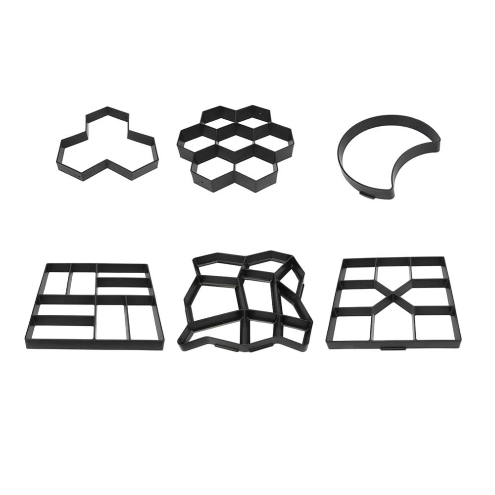 Plastic Path Paving Mould Home Garden Floor Road Concrete Stepping Stone Path Mold Patio Maker Reusable DIY Paving Tool