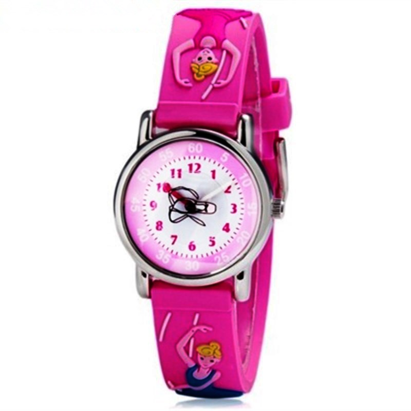 3D Rubber Strap Student Watches Luxury Brand Willis Waterproof Quartz Watches Children Wrist Watch Girl Clock Sports Child Watch