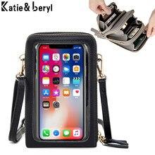 Mini sacs à bandoulière multifonctionnel pour femmes, pochette pour téléphone portable, pochette pour cartes, petite sacoche féminine