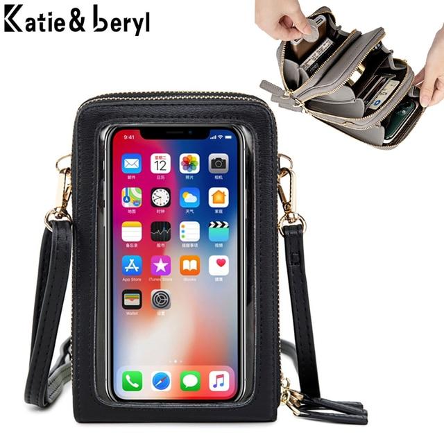 Mini Crossbody Shoulder Bags Women Multi-functional Touchable Cell Phone Pocket Card Purse Ladies Small Bag Female Messenger Bag