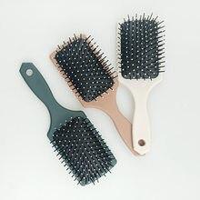 Pente de cabelo airbag massagem pente em linha reta abs quadrado cabeça da escova de cabelo anti-estático liso estilo ferramentas escova de cabelo